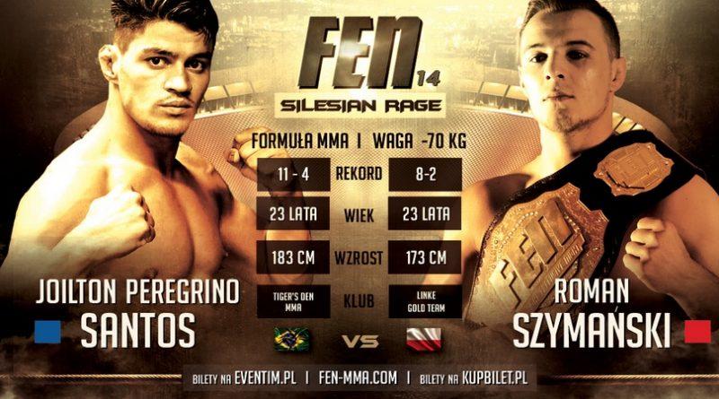 Szymański vs Santos w walce o tytuł na gali FEN 14 Silesian Rage