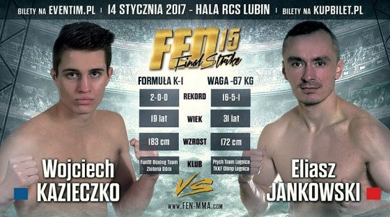 Jankowski vs Kazieczko na otwarcie gali FEN 15 Final Strike