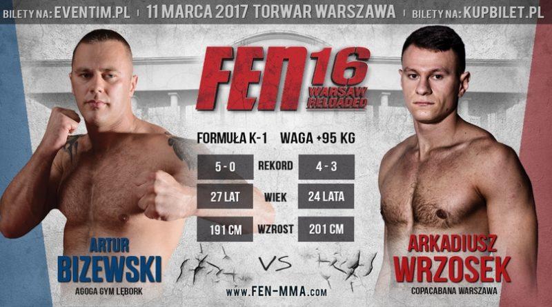Bizewski vs Wrzosek na gali FEN 16 Warsaw Reloaded