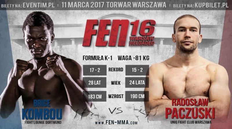 Kombou vs Paczuski na gali FEN 16 Warsaw Reloaded