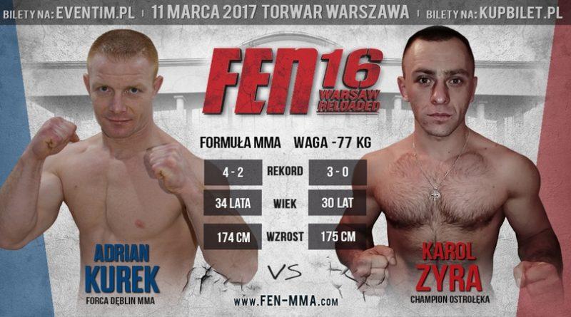 Zyra kontra Kurek na otwarcie gali FEN 16 Warsaw Reloaded