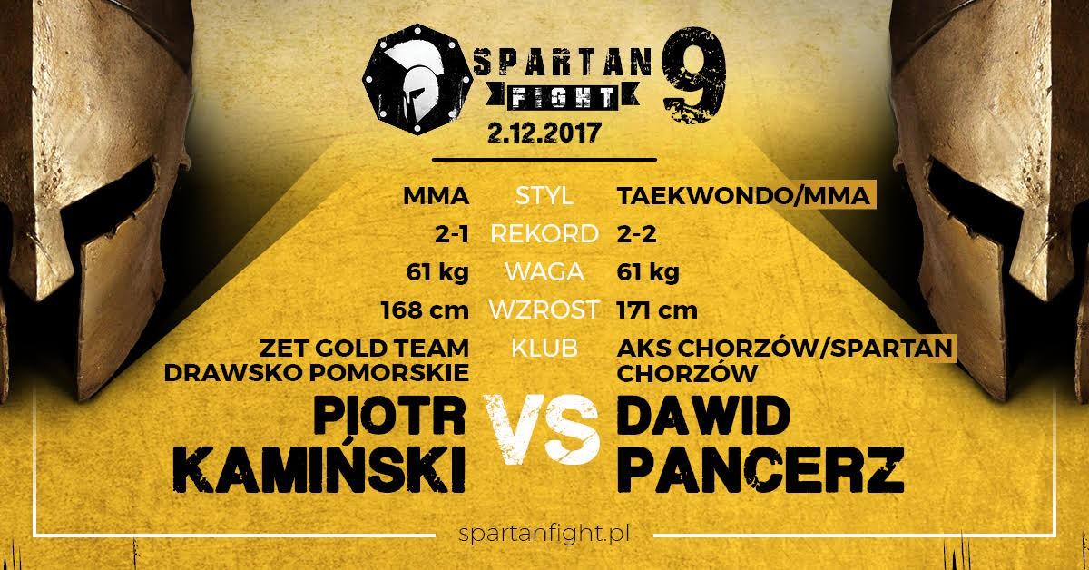 Piotr Kamiński VS Dawid Pancerz na Gali Spartan Fight 9 w Chorzowie!