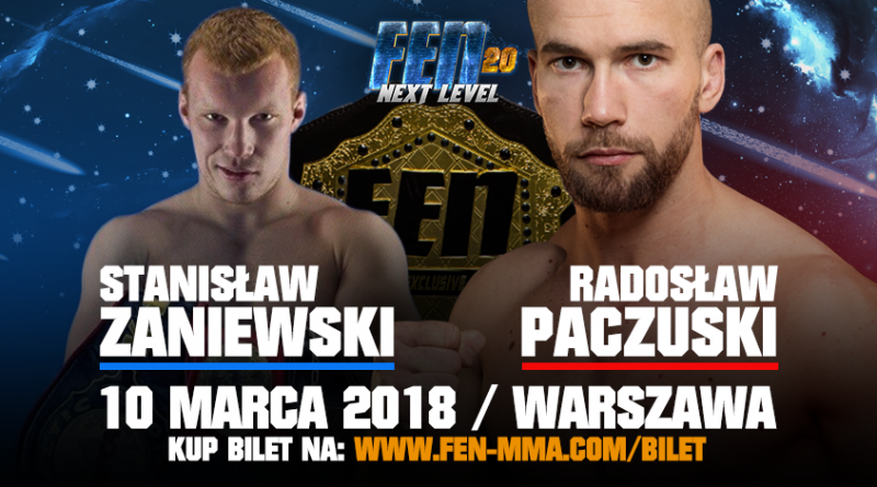 Zaniewski rywalem Paczuskiego w walce wieczoru na FEN 20!